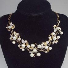 Moana Strange F Act le rôle est goûté européen et américain mode métal Shanzuan Branches personnalité collier de perles(China)
