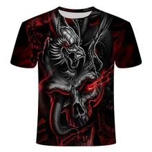 2019 films d'horreur il Clown 3D imprimé t-shirt hommes/femmes Freddy Jason meurtriers Film t-shirt Annabelle personnalité Hip Hop haut(China)