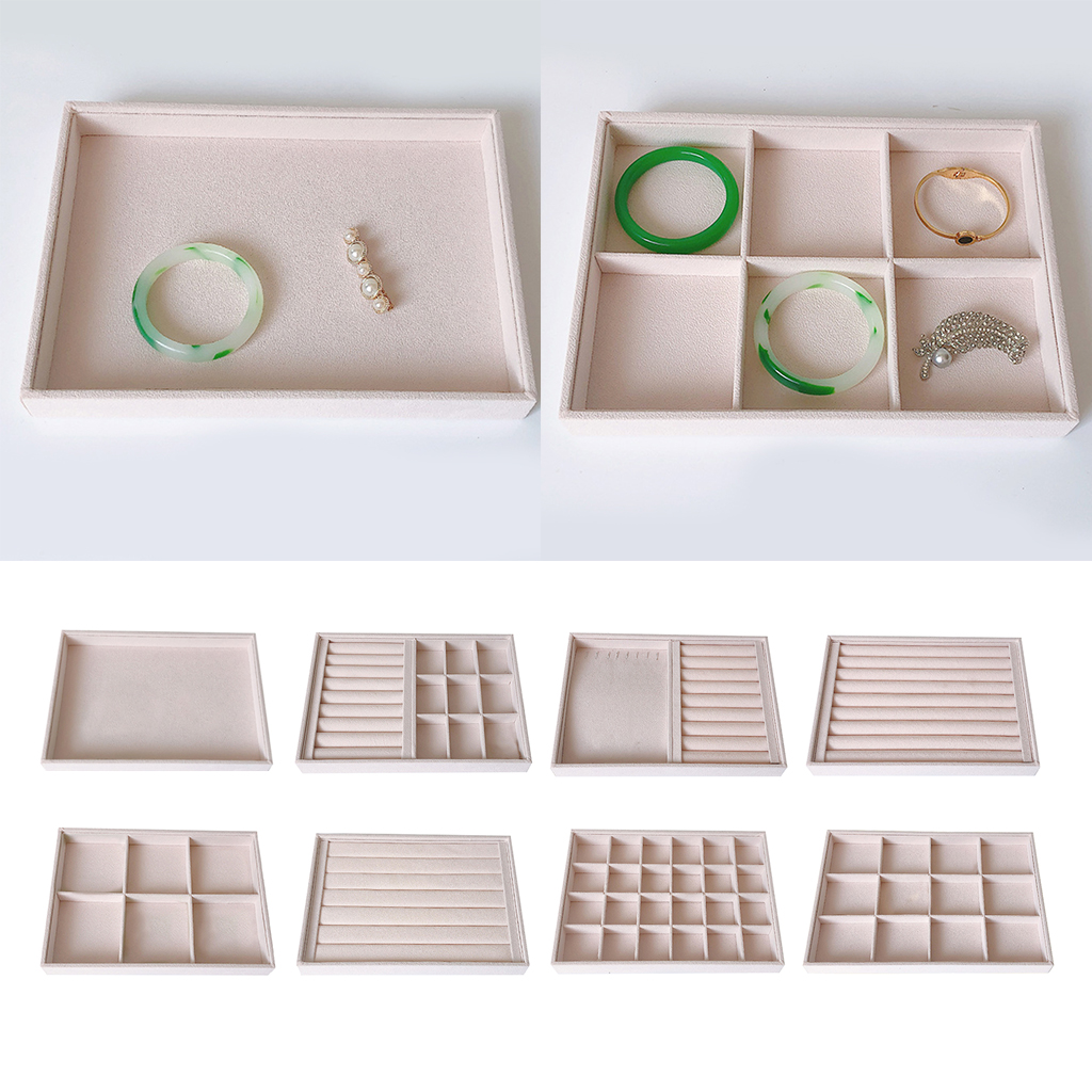 Portable Removable Jewelry Ring Earring Insert Display Cufflinks Organizer Box Jewelry Tray Holder Storage Showcase