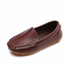 חדש אופנה ילדי נעלי גודל 21-38 ילדי עור מפוצל תינוק נעלי בנים/בנות סירת נעלי להחליק על רך 8 צבע SY088(China)