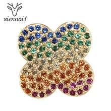 Viennois Arcobaleno Fiore Spilla Spilli Nuovo Gioelleria raffinata e alla moda Zircone Per Le Donne(China)