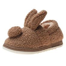 Küçük kız botları tavşan yay kırmızı pembe bileğe kadar bot sıcak kürk hayvan botları 2019 yeni sıcak kar botları ev terlik # C(China)