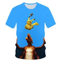 3D Film Detective Pokemon Pikachu T-Shirt per Gli Uomini Delle Magliette Delle Donne di Estate di Modo Casual Magliette Anime Vestiti Del Fumetto Carino Costume(China)