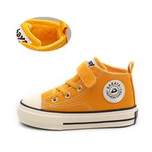 ילדי בד נעלי בנות סניקרס גבוהה בני חורף נעלי Breathble 2019 סתיו חורף אופנה ילדי נעליים יומיומיות פעוט מגפיים(China)