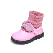 MoneRffi Bebek Kız Çorap Ayakkabı 2019 Sonbahar Çocuk Botları Nefes Bebek Ayakkabı Yumuşak Alt kaymaz Vahşi Çocuk Ayakkabı botas Bebe(China)