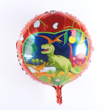1 Buah 90*55 Cm Dinosaurus Foil Balon Ulang Tahun Pesta Dekorasi Bayi Shower Anak-anak Mainan 4D Helium Balon Dinosaurus tema Perlengkapan Pesta(China)