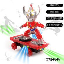 Crianças Aranha Cavalheirismo Skate Stunt Veículo Motor-driven Universal Rolo Rotativo Iluminação Música Crianças Brinquedos Dos Desenhos Animados(China)