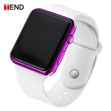 Top marque hommes femmes montres LED unisexe montre numérique horloge électronique Hodinky mâle femme montre Sport montre-bracelet pour garçons filles(China)