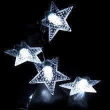 LED חיצוני שמש מנורת מחרוזת אור 20/30/50/100 נוריות פיות חג מסיבת חג המולד גרלנד שמש גן עמיד למים פיות מחרוזת(China)