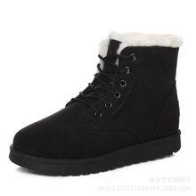 ข้อเท้าสตรีรองเท้าบูทฤดูหนาวรองเท้า LACE-up รองเท้าบูท Snow BOOTS รองเท้าขนสัตว์พื้นรองเท้าแพลตฟอร์...(China)