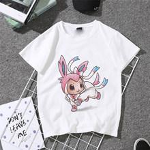 Summer 2019 T Shirt For Women New Exclusive Women Tops pokemon Tees Women Harajuku T-shirt O-neck Pink Kawaii Tops(China)
