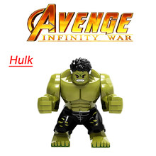 Legoing Marvel Thanos Iron Man Avengers Hulk Endgame Infinity War 4 Marvels Super Heroes Figures Blocks Gifts Toys Legoingls Set(China)