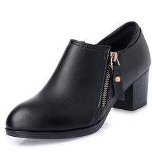 Aiyuqi Più Il Formato 35-43 # Scarpe 2019 Genuino Delle Donne Scarpe di Cuoio di Modo Delle Donne Della Molla Scarpe Buco Scarpe Casual singoli Pattini Delle Donne(China)