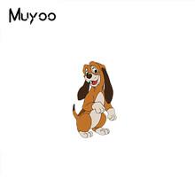 2019 Baru Fox dan Anjing Acrylic Bros Red Fox dan Anjing Bros Pin Seni Epoxy Bros Hadiah(China)