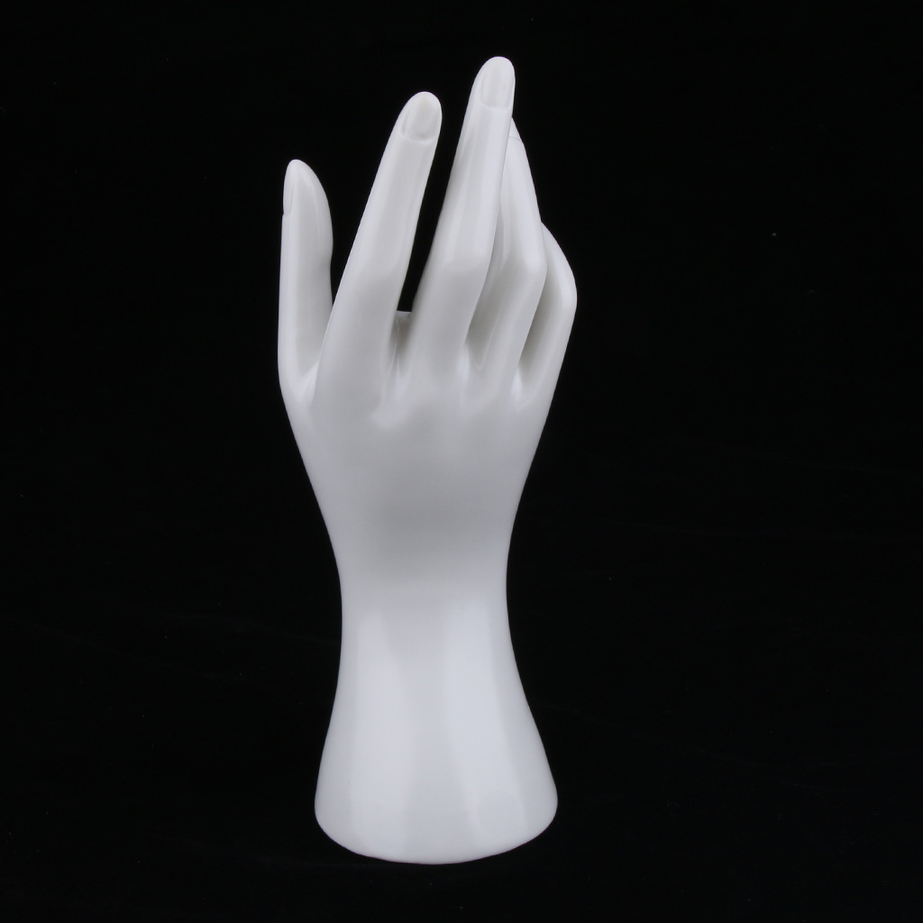 Female Mannequin Hand Jewelry Bracelet Ring Watch Gloves Display Stand Model for Shopping mall, Jewelry Store and Home