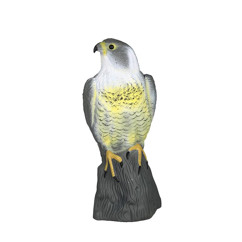 Lifelike Falcon Decoy Pest Control Bird Scarer Scarecrow Garden Ornament