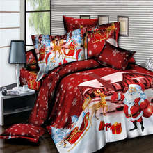 Santa Claus Modern Bedding Set King Twin Queen Size Gift for Kids Bed Cover Suit Christmas Series of Home Bedclothes 2019 New(China)
