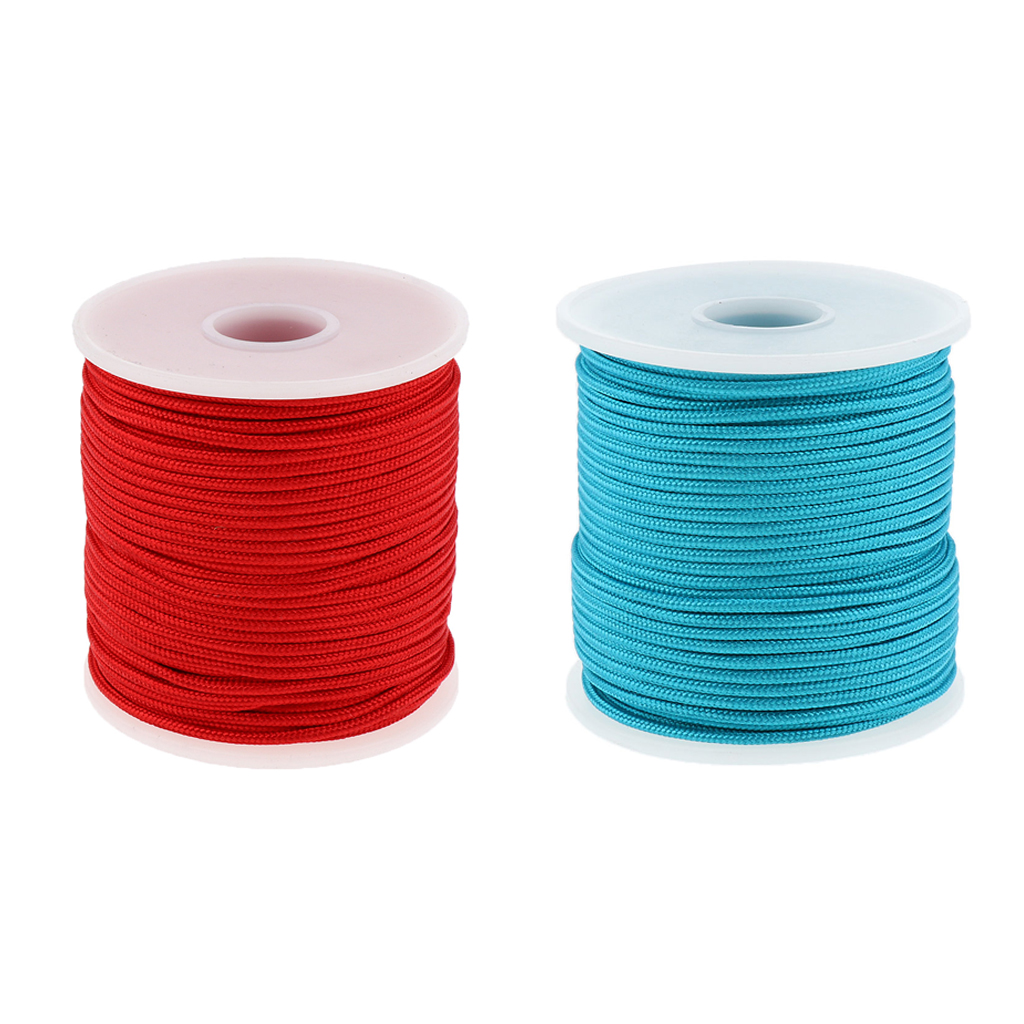 2 Pieces 2mm 50m Paracord Parachute Rope Cord Outdoor Camping Tent Guylines, Hiking Travel Hunting Survival