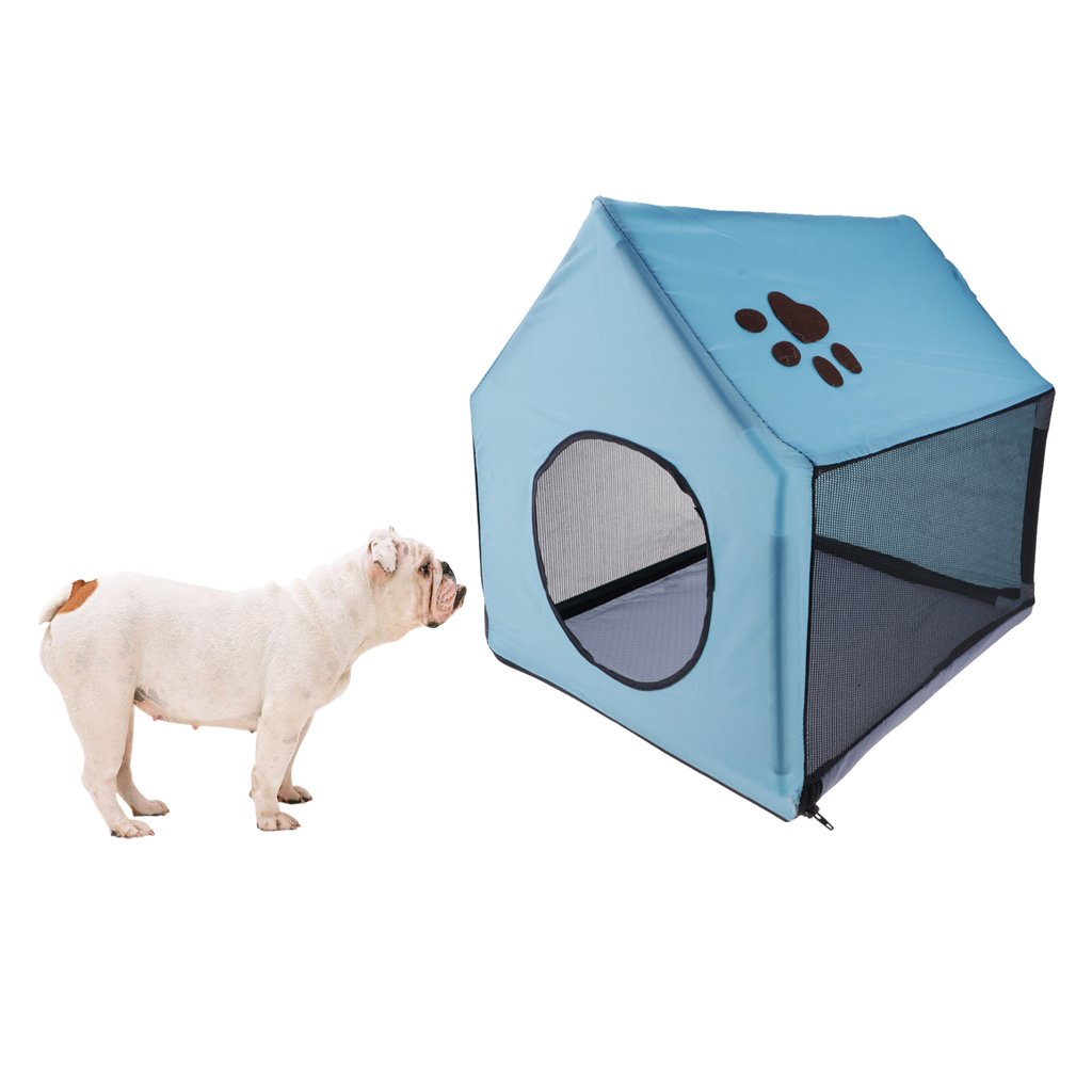 Indoor/Outdoor Cloth Dog Kennel Shelter Detachable House Cave Dog Houses