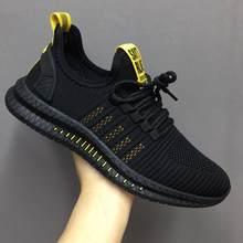 Nuevos Zapatos de malla para hombre, de primavera, informales, zapatillas de deporte para hombre(China)