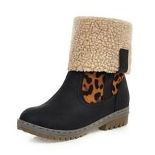 DORATASIA Bán Plus Size 34-46 Nữ Nền tảng Ủng 6 cm Giày cao gót nữ mùa đông biến- trên Edge lông giày Giày người phụ nữ(China)