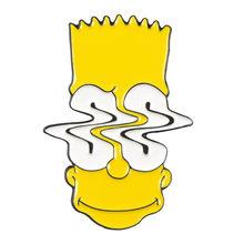 Симпсоны эмалированные булавки Лиза Гомер Джей Мардж Кирк персонаж мультфильма мем булавка-брошь, подарок для ребенка друг творческая одеж...(China)