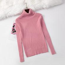 Deruilady 여성 니트 두꺼운 터틀넥 스웨터 풀오버 가을 겨울 긴 소매 캐주얼 따뜻한 기본 스웨터 여성 점퍼 탑(China)