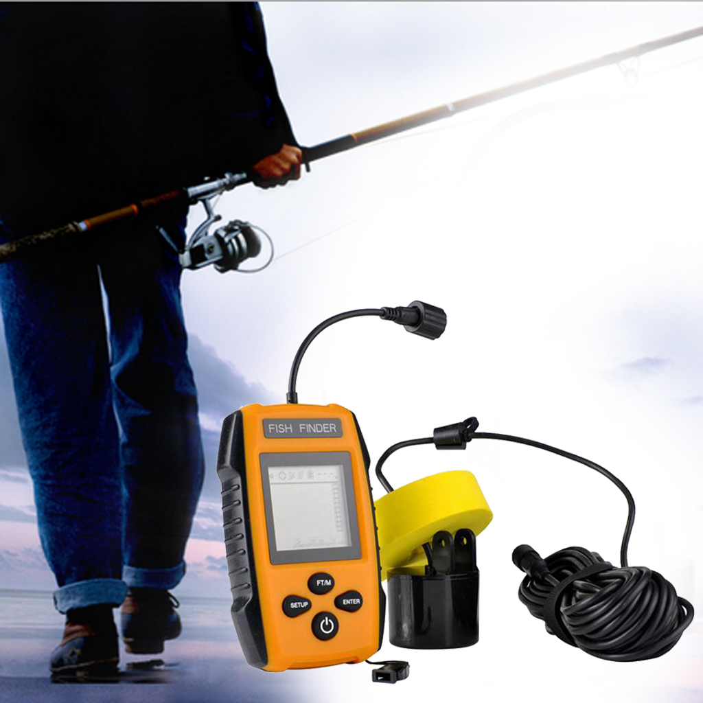 Handheld Fish Finder Wireless 100m Depth Sonar Sensor Underwater Fishfinder