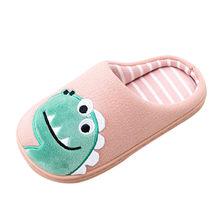 ילדי כותנה נעלי ילדים הבית ובנות תינוק חמוד קריקטורה חם נעלי בני בנות עיבוי ילדי נעלי בית(China)