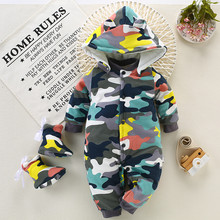 BibiCola Newborn Baby Warm Rompers Infant Baby Winter Fashion Thicken Jumpsuit Kids Cartoon Overalls Toddlers Outing Clothing(China)