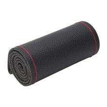 Conception en cuir de couverture de volant de voiture de bricolage avec des aiguilles et le cuir de microfibre de fil ajustement pour des accessoires de voiture de diamètre 38cm(China)
