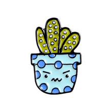 8 stili di Pianta In Vaso Smalto Spilli Personalizzato Cactus Aloe Spille Risvolto Spille Borsa Camicia Catoon Distintivo Naturale Dei Monili di Regalo Per Bambini gli amici(China)