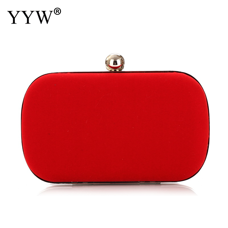 WOMENS SILK SATIN CLUTCH HAND BAG WITH DIAMANTE WHITE RED WEDDING PARTY FORMAL
