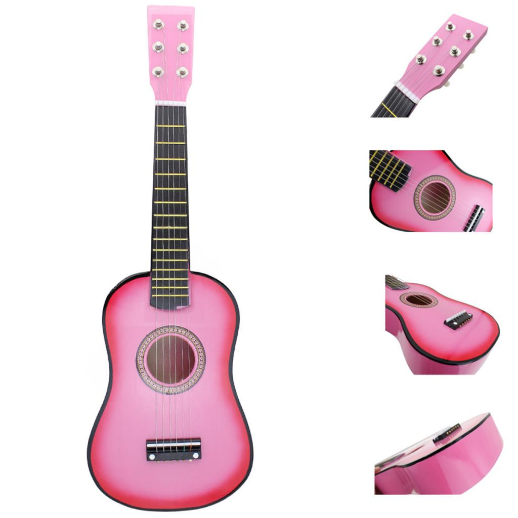 Exquisite Solid Wood 6 Strings 21 inch GuitarPractice Mini String Musical Instrument for Beginners  music lovers