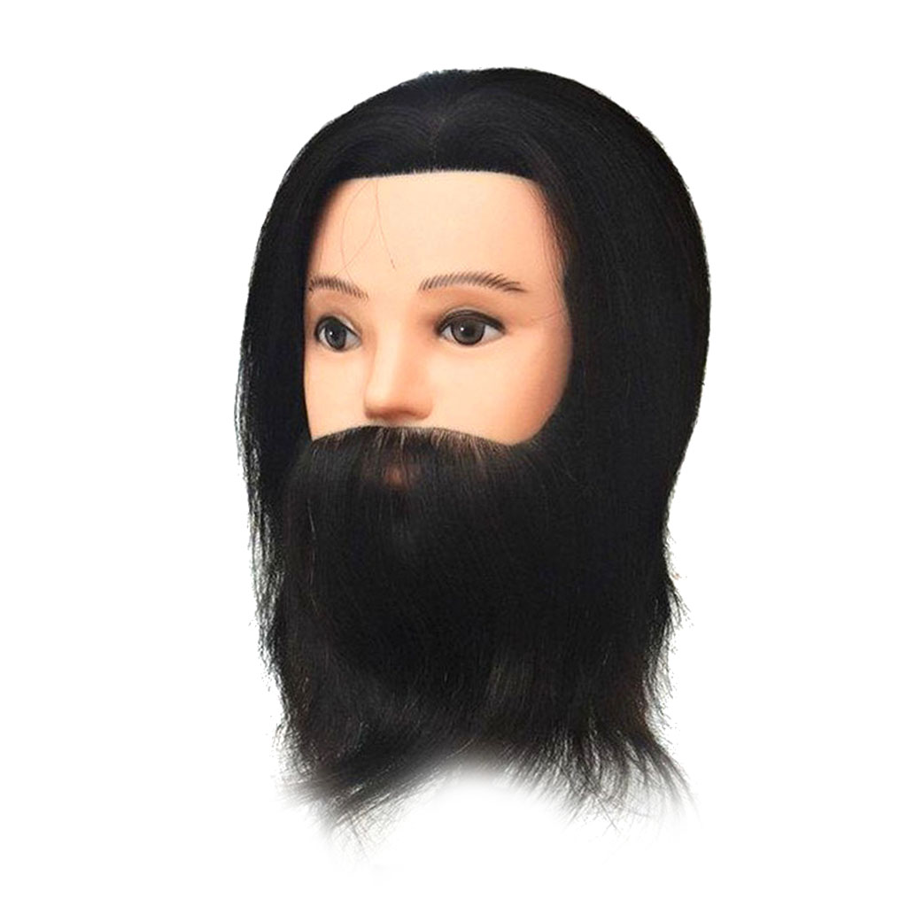 12 in Mannequin Head 100% Human Hair Hairdresser Training Head Manikin Cosmetology Doll Head