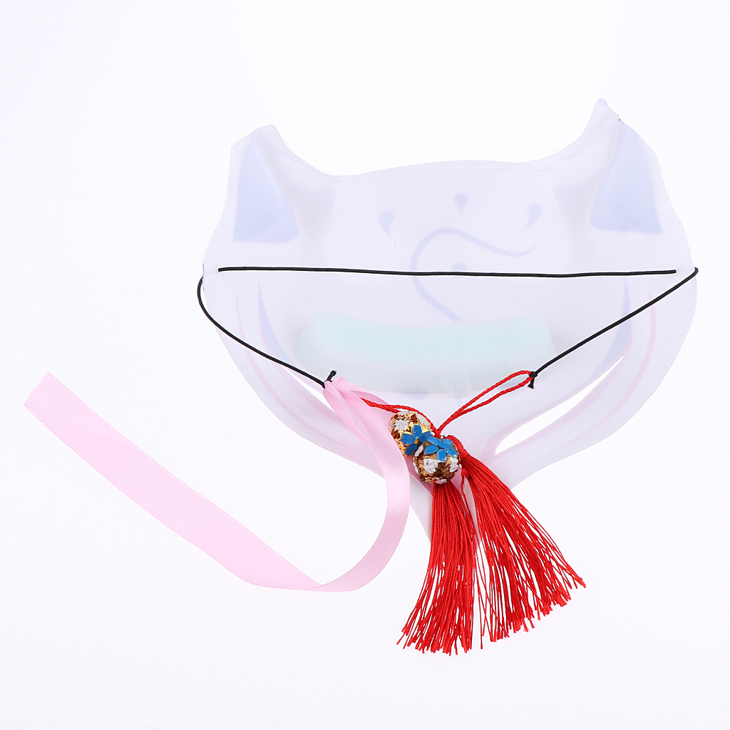 Hand Painted Half  Face Lowrie Mask Japanese Halloween Animal Mask Masquerade Cosplay Party Masks