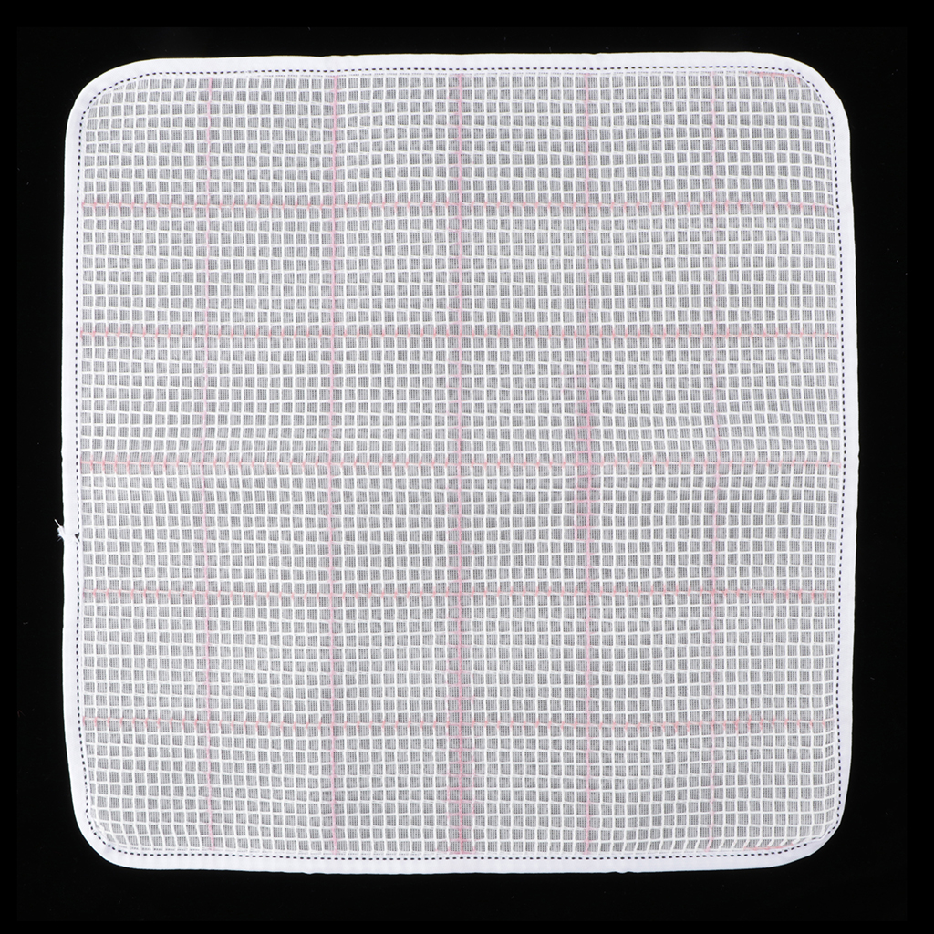 White Latch Hook Rug Canvas for Carpet Cushion Mat Tapestry Craft Making 15x15''