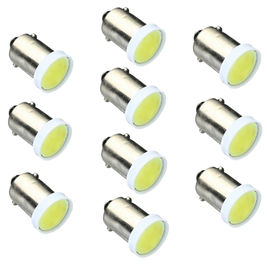 10 Pcs BA9S COB LED Bulbs T4W 363 T11 Car Dashhboard/Side/Meter/Reading/Dome/License plate Light Side Wedge Bulbs COB Chip