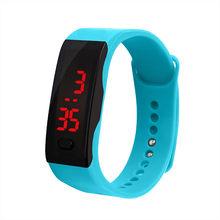 Das mulheres dos homens Relógio Do Esporte LEVOU Display Digital Pulseira de Relógio Estudantes das Crianças Esportes de Sílica Gel Assistir Reloj deportivo L58(China)