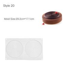 Bolo de decoração molde 3d moldes de silicone cozimento prato ferramentas para o coração redondo bolos chocolate brownie mousse fazer sobremesa pan(China)