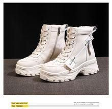 Artırın kısa ayakkabı kadın günlük çizmeler kadın botları şövalye çizmeler(China)