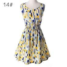 Sukienka kobiety na co dzień 2019 lato szyfonowa sukienka kobiety odzież Sexy Mini kwiatowy krótkie sukienki plażowe duży rozmiar szata Femme(China)