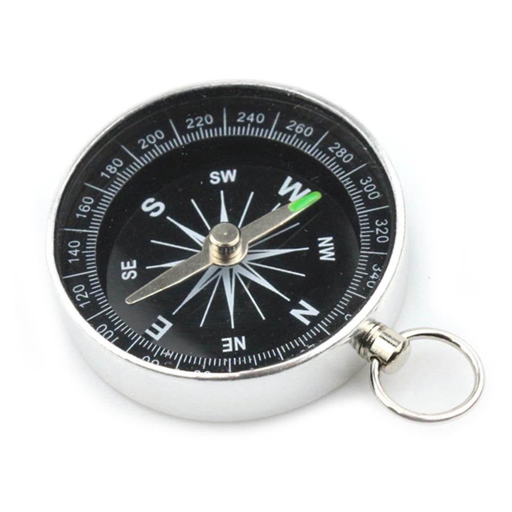 Appearancnes Pockets Mini Camping Hiking Compasses Lightweight Aluminum Outdoor Travel Compasses Navigation Wild Survival Tool Black