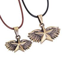 Popularny styl biżuteria kreatywny klepsydra naszyjnik dla par niebieski różowy wisiorek()