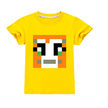 Minecrafted DanTDM Baby Toddler Christmas 100% Cotton Short Sleeve Summer Clothes for Girls Top Boys Kids T Shirt Clothing Shirt(China)
