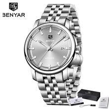 Benyar Men Watch Automatic Mechanical Male Sport Clock Top Brand Luxury Military Army Genuine Leather Casual Man Wristwatch 5144(China)
