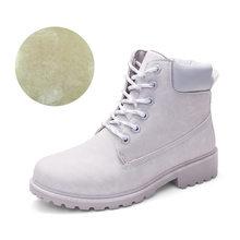 Stiefeletten Für Frauen 2019 Neue Marke Schnee Stiefel Mode Warme Winter Stiefel Frauen Solide Platz Ferse Schuhe Frau Plus größe 36-41(China)