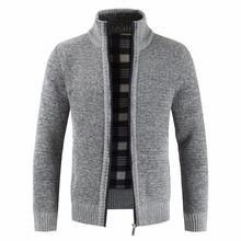 Cárdigan para hombre 2019 otoño grueso nuevo suéter Casual de negocios marca Slim Fit prendas de punto abrigo invierno suéter puente hombres abrigos(China)