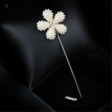 Kualitas Tinggi Baru Sweater Bros Mawar Korsase Bunga Camellia Jarum Panjang Pin untuk Wanita Selendang Kemeja Kerah Aksesoris(China)