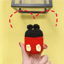 אופנה לסרוג חמוד 3D המבורגר פרח גזר מיקי bee סיליקון Bluetooth אוזניות מקרה עבור אפל AirPods 2 1 אביזרי כיסוי(China)